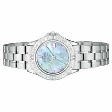NEW CITIZEN ECO DRIVE WOMEN'S ELEKTRA DIAMOND STAINLESS STEEL WATCH EW1710-56Y