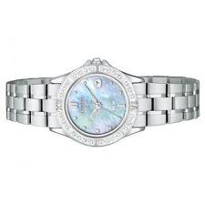 NEW CITIZEN ECO DRIVE WOMEN'S ELEKTRA DIAMOND STAINLESS STEEL WATCH EW1710-56Y