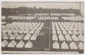 USA postcard - Birds Eye View of White City Woodmen in Camp at Buffalo (A140)