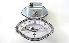 Vespa Muschel Tacho speedo weiß 120 km/h mit Raute Sprint,GL,GT,GS etc.10mm.