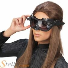 Official Deluxe Catwoman Goggle Mask & Headband Facny Dress Accessory Set