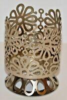 Bath & Body Works Floral Candle Sleeve Holder Pedestal for 4 oz Medium Candle