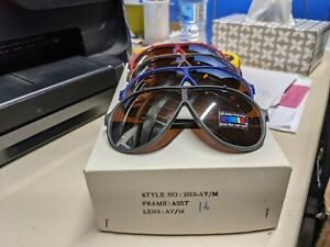 Blue blocker sunglasses lot of 1 Dozen new old stock 1980-90s #1013 av mirror
