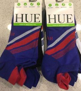 NEW Hue Women's 2- 3 Packs Air Sleek Socks, Black/White/Blue One Size