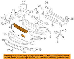VW VOLKSWAGEN OEM 11-14 Touareg-Grille-Lower 7P6853671ERYP