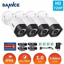 SANNCE 4x Bullet 1500TVL CCTV Camera 720P TVI Outdoor Security Surveillance Cam