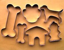 Dog bone house paw fire hydrant baking pastry cookie cutter stainless steel set