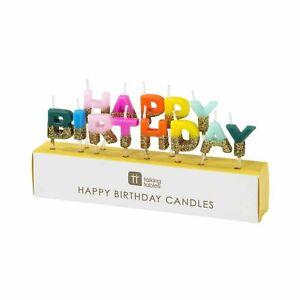 Birthday Brights Rainbow Happy Birthday Candles
