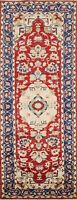 Vegetable Dye Super Kazak Oriental RED/ IVORY Runner Rug Hand-knotted Wool 3'x8'