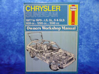 Haynes CHRYSLER SUNBEAM 1977 to 1979 Owner's Workshop Manual HB BOOK LS,GL,S,GLS