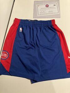 Derrick Rose Player Worn Nike Shorts 25 Detroit Pistons Fanatics Authentic