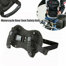 Motorcycle Scooter Passenger Safety Belt Rear Seat Save Grip Handle Belly Strap