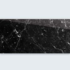 Bodenfliese poliert Saturn schwarz marmoriert 30x60cm