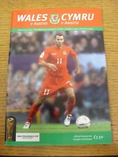 26/03/2005 Wales v Austria [At Cardiff Arms Park] .  Thanks for taking the time