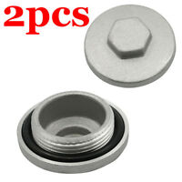 2X Valve Adjustor Cap Tappet Cover Covers Oil Filler Nut Rear Drive For Honda CY