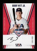 2019 Panini Stars & Stripes Bobby Witt Jr. Autograph Rookie Card /499