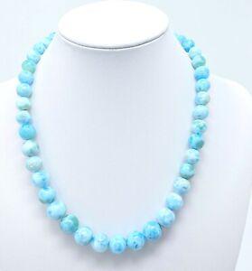 "Larimar Necklaces beads  (72.90 grams) -17.25"" Long"