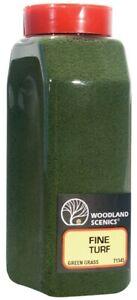 NEW Woodland Train Scenery Turf Fine Green Grass 32 oz T1345