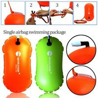Sports Safety Swim Buoy Tow Float Pool Open Water Swimming Inflatable Airbag New