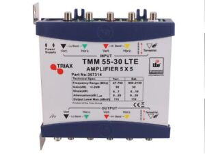 triax tmm 55-30 lte 5 in 5 out multi-switch amplifier