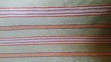 New listing Chenille Stripe Brown Green Ivory Red Upholstery Fabric