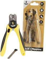 More details for professional-grade dog nail clippers by thunderpaws with protective guard