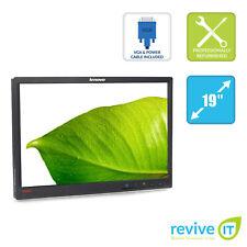 "Lenovo ThinkVision L1951pw 19"" 1440x900 16:10 LCD Monitor ONLY VGA DVI - Grade B"