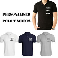 Personalised Mens Printed Polo Shirts Custom Stag Do Birthday Work wear T Shirt