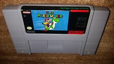 SUPER MARIO WORLD 1 ORIGINAL RELEASE SUPER NINTENDO SNES EXMT GAME CARTRIDGE