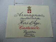 étiquette ancienne armagnac LAVARDAC