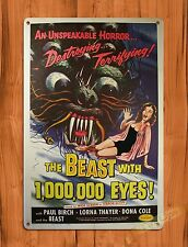 "TIN-UPS Tin Sign ""The Beast With A Million Eyes"" Vintage Movie Art Poster"