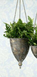 Hanging Basket Hanging Flower Pot Metallamphore Antique Gold Flowerpot Plant Pot