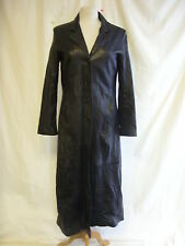 "Ladies Coat - SKIN, size M, 35"" bust, black, leather, trench, mac, sexy - 2539"