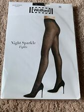 Wolford Night Sparkle Tights .Black/Silver !Size M