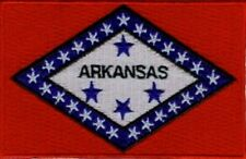 """3 Pcs Arkansas USA State Flag Embroidered Patches 3.5/""""x2.25/"""" iron-on"""