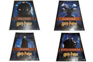 Harry Potter Philosopher's Stone original set for 4 mini posters Hagrid Hermione