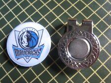 GOLF / Dallas Mavericks Logo Golf Ball Marker/with Magnet Hat Clip New!!