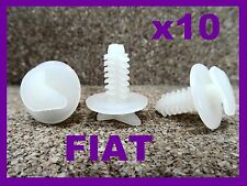 10 FIAT door trim panel card fixing clips plastic fastener car 19P