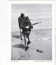 "*Postcard-""Dive Training"" & w/M-16 Rifles- @ US Navy Seals-San Diego (A23-1)"