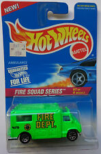 1996 Hot Wheels ~FIRE SQUAD~ Ambulance 1/4 (7 Spoke Hub Wheels)
