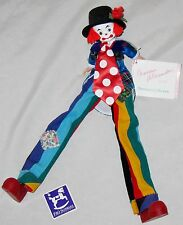 "Madame Alexander Multicolor 14"" Unique Stiltz Clown Character Doll w Box"
