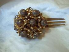 Cluster Hair Comb Barrette Clip 166jl8 Beautiful Vintage 1950's Art Deco Flower