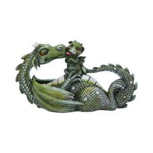 Sweetest Moment (Green) 20.2cm Dragon Figurine