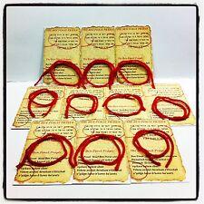 20 шт Красная Нить На Запястье Каббала Браслет + 20 Карт с молитвой Бен Порат