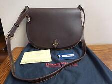 NWT Dooney & Bourke ALTO MEDIUM U CROSSBODY Brown T MORO Italian Leather MB867