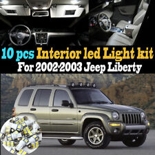 10Pc Super White Car Interior LED Light Kit Package for 2002-2003 Jeep Liberty