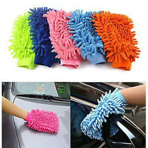 5x Car Wash Glove Microfibre Cleaning Glove Washing Glove Cleaning Set