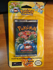 1x Pokemon BASE Set BLISTER Booster Card Pack Box/Case VENUSAUR Art SHADOWLESS?