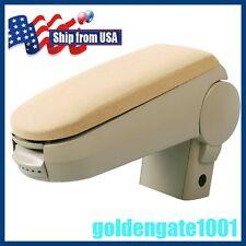 US Beige Cloth Center Console Armrest Storage Box For VW Golf Jetta Mk4 00-04 GG