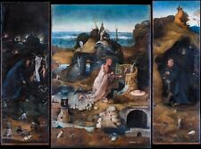 Hieronymus Bosch - The Hermit Saints, Christian Poster, Canvas Print, Fade Proof